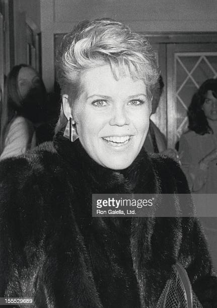 Actress Christopher Norris attends Julie Harris Performance on November 7 1983 at the Los Angeles Stage Company Theater in Los Angeles California