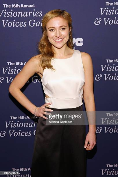 Actress Christy Altomare attends the NYC Company Foundation's 16th Annual Visionaries Voices gala at The Plaza Hotel on December 19 2016 in New York...