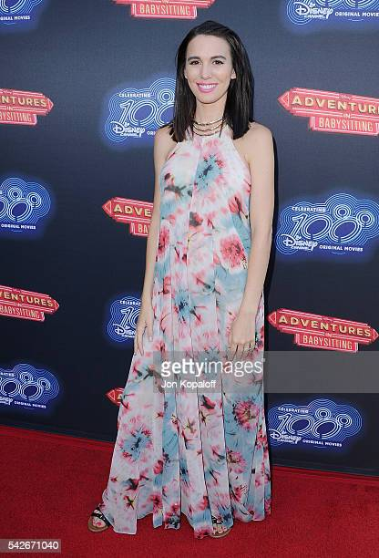 Actress Christy Carlson Romano arrives at the Premiere Of 100th Disney Channel Original Movie Adventures In Babysitting And Celebration Of All DCOMS...