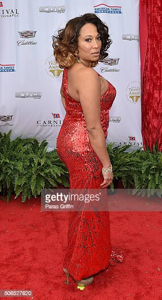 Actress Chrystale Wilson attends 2016 Trumpet Awards at Cobb Energy Performing Arts Center on January 23 2016 in Atlanta Georgia