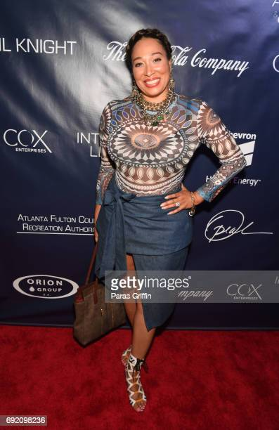 Actress Chrystale Wilson attends the 2017 Andrew Young International Leadership Awards and 85th Birthday Tribute at Philips Arena on June 3 2017 in...