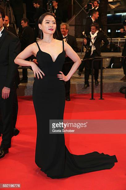 Actress Chun Woo Hee attends The Strangers Premiere during the 69th annual Cannes Film Festival at the Palais des Festivals on May 18 2016 in Cannes...