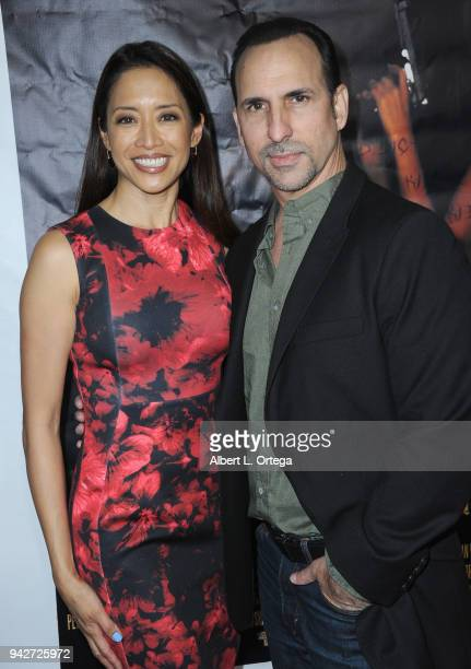 Actress Chuti Tiu and actor Oscar Torre arrive for the Los Angeles Premiere of 'Miles To Go' held at Writers Guild Theater on April 5 2018 in Beverly...