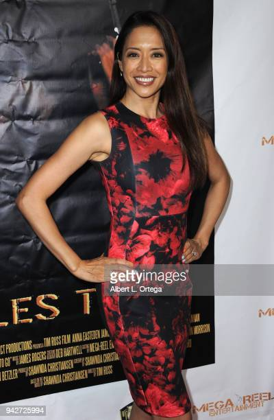 Actress Chuti Tiu arrives for the Los Angeles Premiere of 'Miles To Go' held at Writers Guild Theater on April 5 2018 in Beverly Hills California