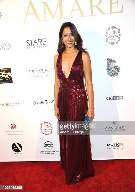 Actress Chuti Tiu attends the Amare's Second Year Anniversary 'Believe Issue' Party held at Sofitel Los Angeles At Beverly Hills on December 13 2018...