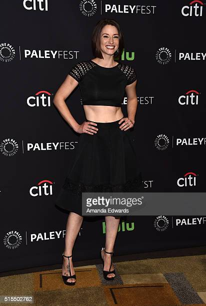 Actress Chyler Leigh arrives at The Paley Center For Media's 33rd Annual PaleyFest Los Angeles presentation of 'Supergirl' at the Dolby Theatre on...