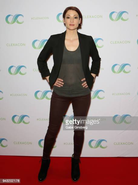 Actress Chyler Leigh attends the Cocktails for Change fundraiser hosted by ClexaCon to benefit Cyndi Lauper's True Colors Fund at the Tropicana Las...