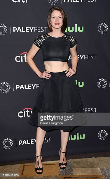 Actress Chyler Leigh attends The Paley Center For Media's 33rd Annual PaleyFest Los Angeles 'Supergirl' at the Dolby Theatre on March 13 2016 in...