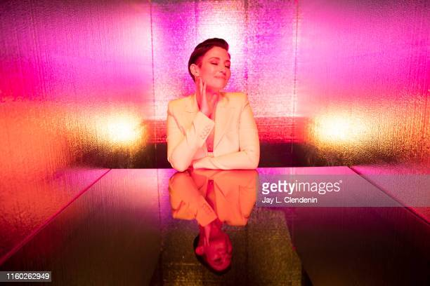 Actress Chyler Leigh of 'Supergirl' is photographed for Los Angeles Times at ComicCon International on July 20 2019 in San Diego California PUBLISHED...