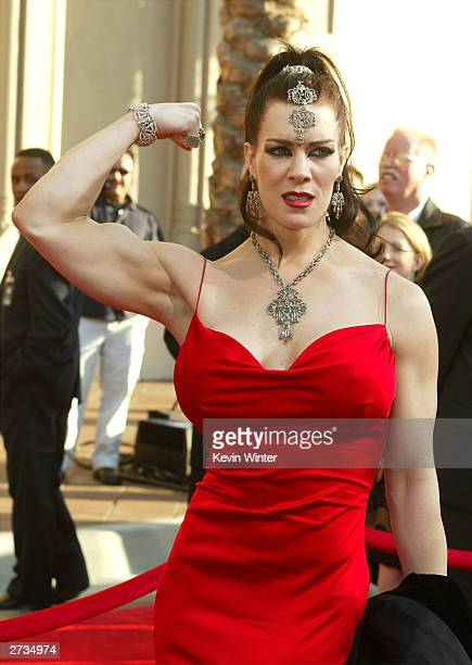 Actress Chyna attends the 31st Annual American Music Awards at The Shrine Auditorium November 16 2003 in Los Angeles California