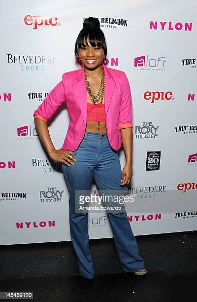 Actress Chyna Layne arrives at the NYLON Magazine June/July Music Issue Launch Party With Shirley Manson at The Roxy Theatre on May 30 2012 in West...