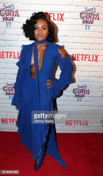 Actress Chyna Layne attends Netflix Original Series 'She''s Gotta Have It' Premiere and After Party at BAM Rose Center on November 11 2017 in...