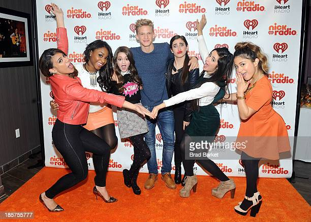 Actress Ciara Bravo and singer Cody Simpson pose with Dinah Jane Hansen Normani Kordei Hamilton Lauren Jauregui Camila Cabello and Ally Brooke...