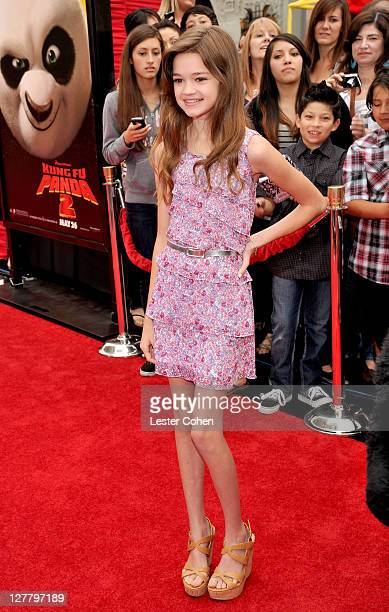 Actress Ciara Bravo arrives at the Los Angeles premiere of 'Kung Fu Panda 2' held at Grauman's Chinese Theatre on May 22 2011 in Hollywood California