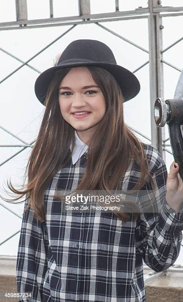 Actress Ciara Bravo Visits The Empire State Building at The Empire State Building on December 3 2014 in New York City