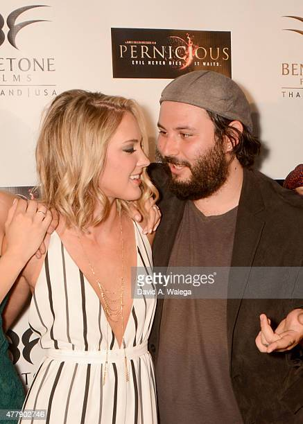 Actress Ciara Hanna an director Gordon Bressack attend the 'Pernicious' premiere at Arena Cinema Hollywood on June 19 2015 in Hollywood California