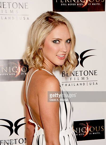 Actress Ciara Hanna attends the 'Pernicious' premiere at Arena Cinema Hollywood on June 19 2015 in Hollywood California