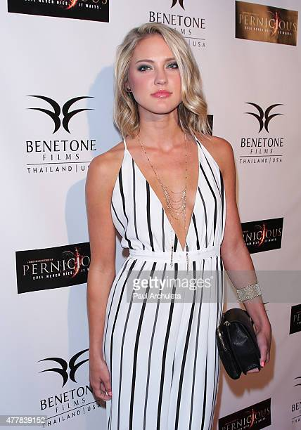Actress Ciara Hanna attends the premiere PERNICIOUS at Arena Cinema Hollywood on June 19 2015 in Hollywood California