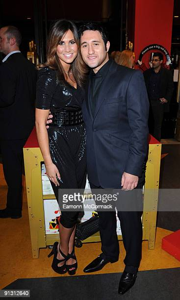 Actress Ciara Janson and singersongwriter Anthony Costa attends the launch of iPod skins by Wrappz in aid of Children In Need at Hamleys on October 1...
