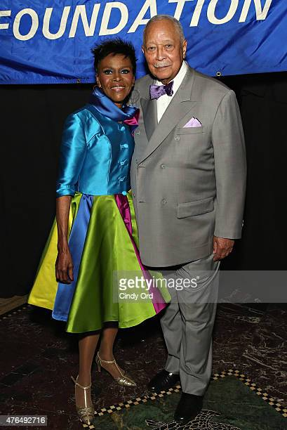 Actress Cicely Tyson and former Mayor of New York City David Dinkins attend the I Have A Dream Foundation Spirit of the Dream Gala at Gotham...