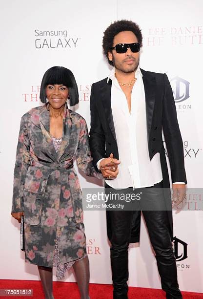 Actress Cicely Tyson and musician Lenny Kravitz attend Lee Daniels' The Butler New York Premiere at Ziegfeld Theater on August 5 2013 in New York City