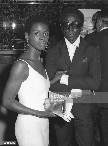 Actress Cicely Tyson and musician Miles Davis attend the premiere of 'The Heart Is A Lonely Hunter' on July 31st 1968 in New York City