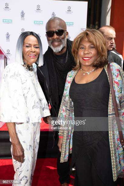 Actress Cicely Tyson gospel recording artist BeBe Winans and Cheryl Davis attend the Hand And Footprint Ceremony for Cicely Tyson at TCL Chinese...