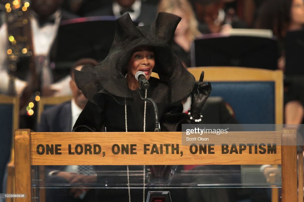Soul Music Icon Aretha Franklin Honored During Her Funeral By Musicians And Dignitaries : News Photo