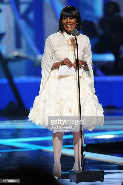 Actress Cicely Tyson speaks onstage during 'Black Girls Rock' BET Special at NJPAC – Prudential Hall on March 28 2015 in Newark New Jersey