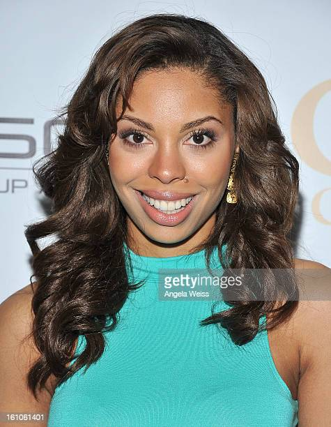 """Actress Ciera Payton arrives at BET Network's Music Matters Showcase """"Lipstick On The Mic"""" at Belasco Theatre on February 8, 2013 in Los Angeles,..."""