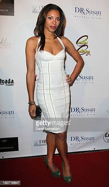 Actress Ciera Payton attends a VIP cocktail reception for the grand opening of Dr Susan's Health and Beauty Institute on August 24 2012 in Beverly...