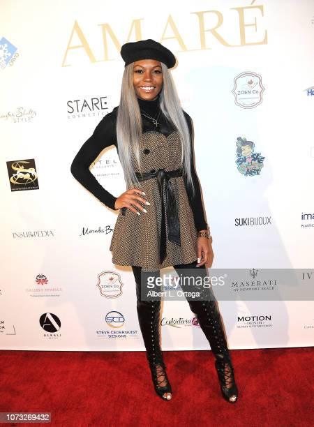 Actress Cierra Brooks attends the Amare's Second Year Anniversary 'Believe Issue' Party held at Sofitel Los Angeles At Beverly Hills on December 13...