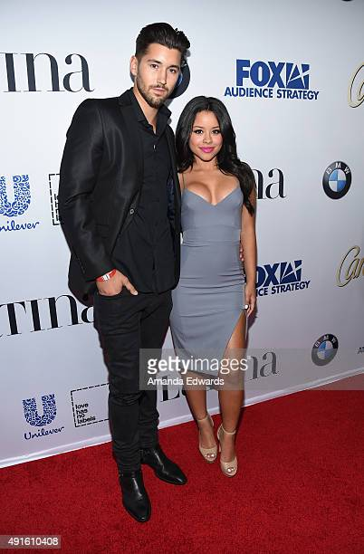 Actress Cierra Ramirez and Jeff Wittek arrive at the Latina Hot List Party hosted by Latina Media Ventures at The London West Hollywood on October 6...