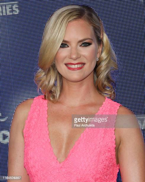 Actress Cindy Busby attends the Hallmark Channel and Hallmark Movies Mysteries summer 2019 TCA press tour Event at Private Residence on July 26 2019...