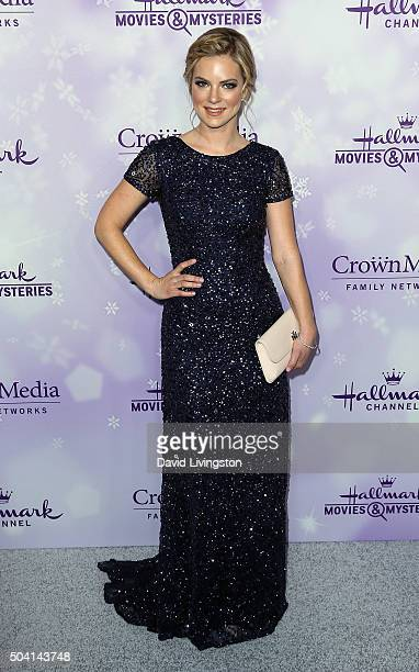 Actress Cindy Busby attends the Hallmark Channel and Hallmark Movies and Mysteries Winter 2016 TCA press tour at Tournament House on January 8 2016...