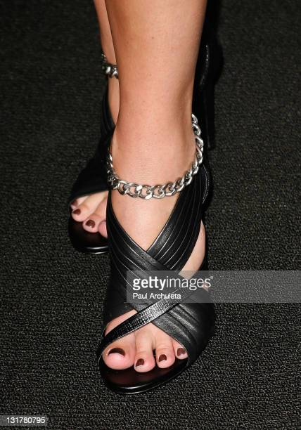 Actress Cindy Sampson arrives for the special Screamfest screening of The Shrine at Mann's 6 Theatre on October 14 2010 in Hollywood California
