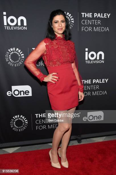 Actress Cindy Sampson attends the Private Eyes Series Premiere at The Paley Center for Media on February 7 2018 in New York City