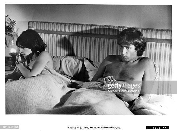 Actress Cindy Williams and actor Joseph Hacker on set of the MetroGoldwyn Mayer movie Mr Ricco in 1975