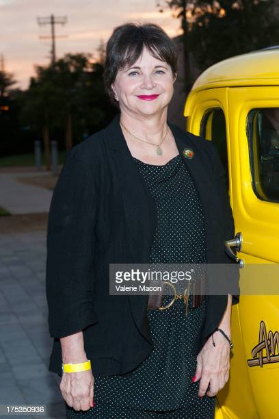 Actress Cindy Williams attends The Academy Of Motion Picture Arts And Sciences' Oscars Outdoors Screening Of American Graffiti on August 2 2013 in...
