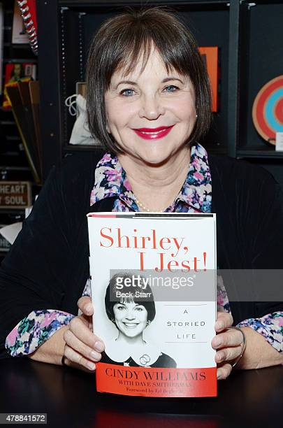Actress Cindy Williams discusses and signs copies of her new book Shirley I Jest A Storied Life at Book Soup on June 27 2015 in West Hollywood...