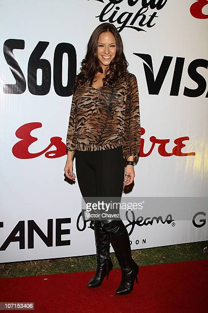 Actress Cinthia Vasquez attends the Esquire Mexico Magazine 2nd Anniversary Masquerade Party at Reforma 423 on November 25 2010 in Mexico City Mexico