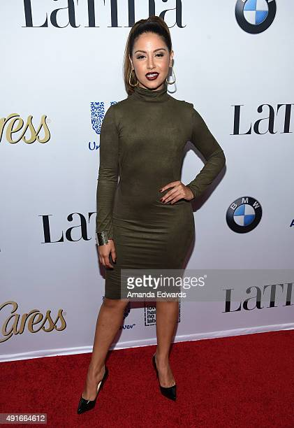 Actress Cinthya Carmona arrives at the Latina Hot List Party hosted by Latina Media Ventures at The London West Hollywood on October 6 2015 in West...