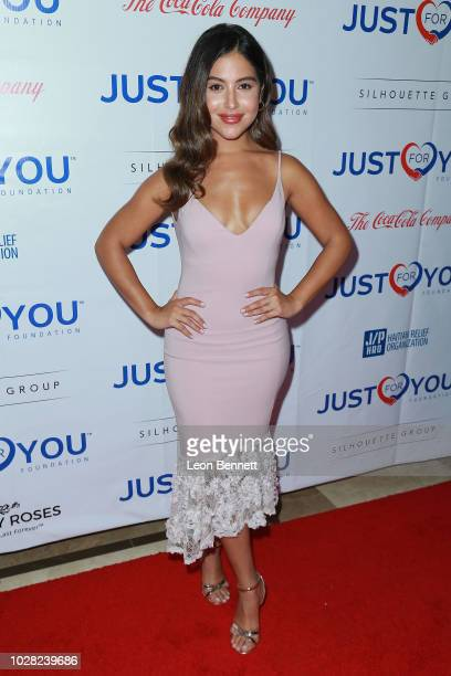 Actress Cinthya Carmona attends the Jason Derulo's Just For You Foundation's Inaugural Heart Of Haiti Gala on September 6 2018 in Beverly Hills...