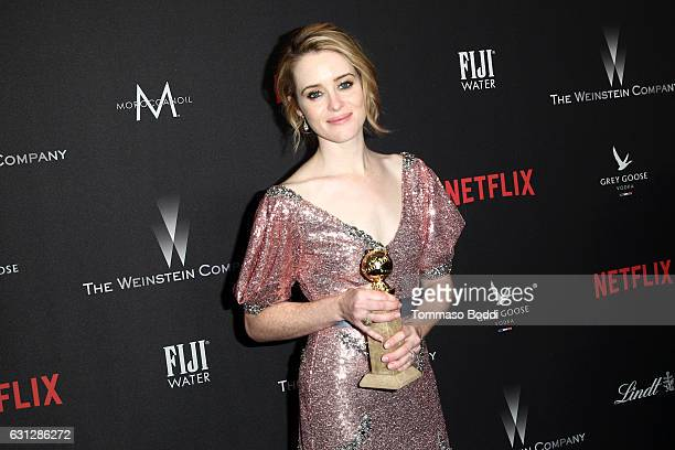 Actress Clair Foy attends The Weinstein Company and Netflix Golden Globe Party presented with FIJI Water Grey Goose Vodka Lindt Chocolate and...