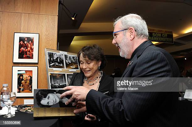 Actress Claire Bloom and Film Critic Leonard Maltin attend The Academy Of Motion Picture Arts And Sciences' Presents The 60th Anniversary Screening...