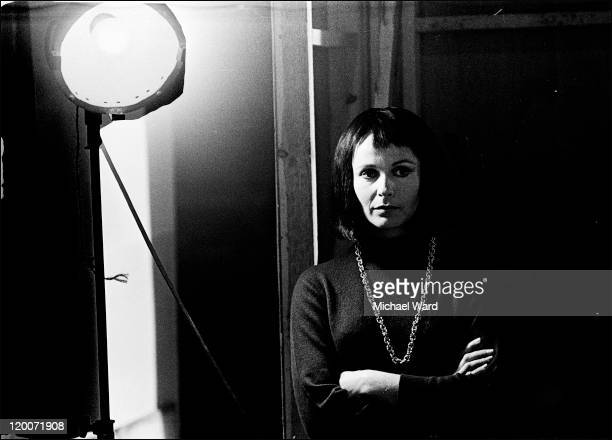 Actress Claire Bloom on set at Pinewood Studios 1969