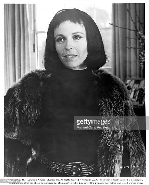 Actress Claire Bloom on set of the movie A Severed Head circa 1970