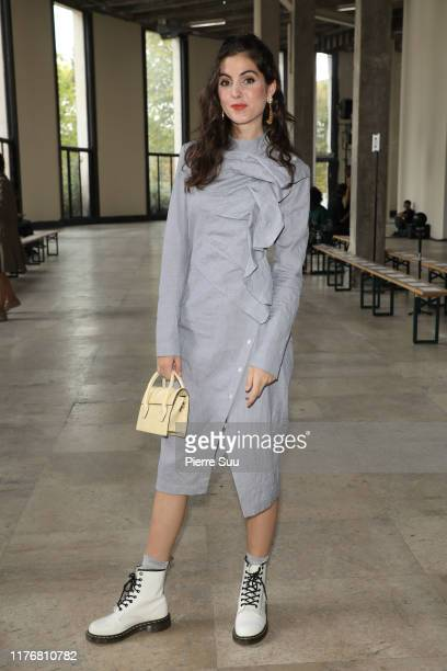 Actress Claire Chust attends the Dawei Womenswear Spring/Summer 2020 show as part of Paris Fashion Week on September 24 2019 in Paris France