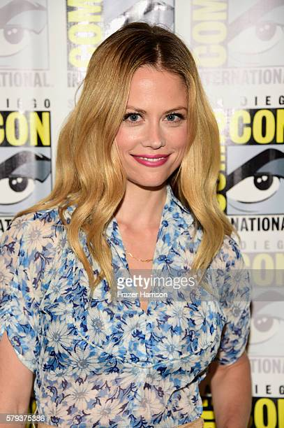 Actress Claire Coffee attends the 'Grimm' press line during ComicCon International on July 23 2016 in San Diego California