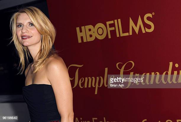 Actress Claire Daines attends the Temple Grandin New York premiere at the Time Warner Screening Room on January 26 2010 in New York City